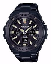 Casio Men G-Steel Touch Solar Black Plated Stainless Steel Watch GSTS130BD-1A
