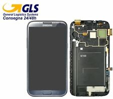 GLS DISPLAY+TOUCH SCREEN SAMSUNG GALAXY NOTE 2 GT N7100 FRAME VETRO GRIGIO NERO