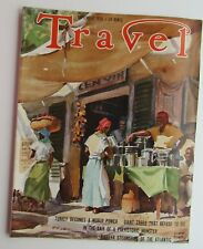 Travel Magazine Sept 1938  Art Cover By John Pike Street Mkt In Port Antonio Jam