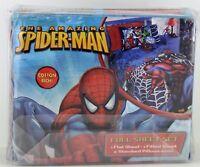 New 3 pc Spider Sense Spider Man Cotton Rich Full Sheet Set Marvel