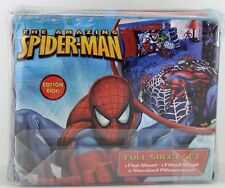 New 3 pc Spider Sense Spider Man Cotton Rich Full Sheet Set Marvel
