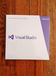 Visual Studio Professional 2013 with MSDN, SKU 79D-00326, Sealed Retail Box