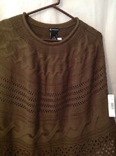 Ladies olive  Shawl  L/XL  NWT by New Directions  rounded neck