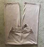 NWT Women's Gillian Grey Light Beige Khaki Wide Leg Knit Pants