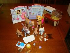 Barbie Lab dog kitten gate puppy food container house pet store lot little shop