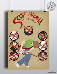SCOTT PILGRIM Vs The World - Minimalist Movie Poster Posteritty Minimal Print