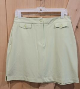 NWT Page&Tuttle Light Green Micro Twill Skort Size 8
