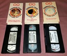3 Childrens Circle VHS Tape LOT Ezra Jack Whats under my bed Creepy Stories