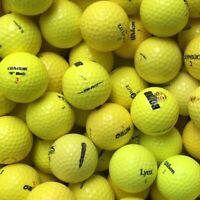 100 gelbe Marken-Mix Golfbälle im Netzbeutel AA/AAAA Lakeballs gemischt Gelb