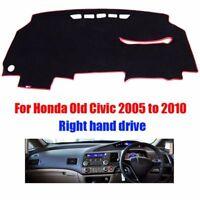 Dashboard Cover Dash Mat Sun Shade Black With Red Edge For Honda 8th Civic RHD