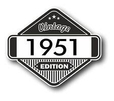 VINTAGE Edizione 1951 Classic Retro Cafe Racer Stile Moto AUTO Adesivo Vinile