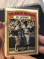 1972 Topps Thurman Munson In Action #442 New York Yankees
