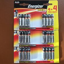 24 Pilas Alcalinas PowerSeal Energizer Aaa Max LR03 MX2400 MN Más Larga Caducidad