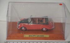 17 ) Atlas Verlag DDR Modell 1:43 IFA F 9 Cabriolet   - rot/schwarz - in Box