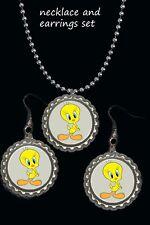 tweety Bird earring Earrings necklace set gift