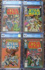 4 Star Wars Comics #4/#9/#12/#14 CGC 2-4.5 1977-78