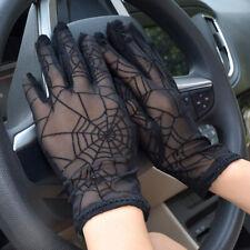Lace Mesh Black Drivng Gloves Anti UV Sunscreen Full Finger Lady Dance Gloves