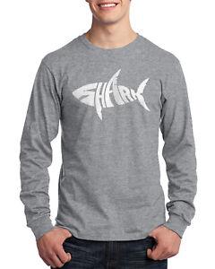Shark Men's Long Sleeve T-Shirt Fun Gift Idea
