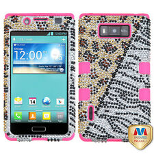 LG Optimus Showtime L86c BLING IMPACT TUFF HYBRID Hard Case Skin Cover Hottie