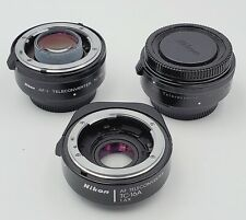 Lot of (3) Nikon Teleconverters TC-14B Manual Focus, TC-14E Auto Focus & TC-16A