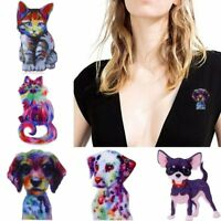Colorful Cat Dog Animal Brooch Pin Christmas Xmas Gift Women Costum Jewelry New