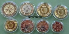 Malta KMS 2011 alle 8 Euro Münzen mit 1 Cent bis 2 Euro Euromünzen coins moedas