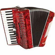 New Hohner 1305-RED Hohnica 72 Bass 34-Key Entry Level Piano Accordion