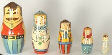 Vintage Lillian Vernon Nesting Dolls Set 5 Pcs