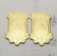 Plaque (2) - Rat856 Raw Brass Ornate Victorian
