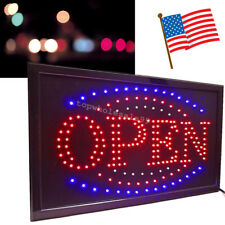 High Visible Led Light Flash Motion Business Open Sign Chain Switch 25*48*2cm