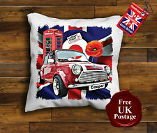 Mini Cooper Cushion Cover, Mini Cooper Cushion, Union Jack, Target, Poppy
