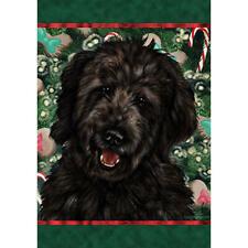 Goldendoodle Black Holiday Treats Flag