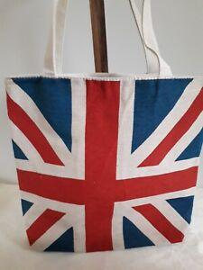 BNWT Union Jack Cotton Canvas Fabric Tote Bag W 40 x H 44 x D 11 cm