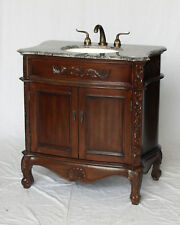 34-Inch Antique Style Single Sink Bathroom Vanity Model 3500-GY