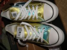 Converse All Stars Psychedelic Century low shoe green/gold womens 7.7 mens 5.5
