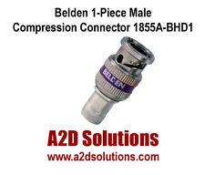 BOX-50 Belden 1855ABHD1 1855A Sub-Min Coax HD BNC 1-Piece Compression Connectors