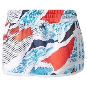 adidas ORIGINALS WOMEN'S PRINT SHORTS GIRLS SUMMER RUNNING HOLIDAY TREFOIL BEACH