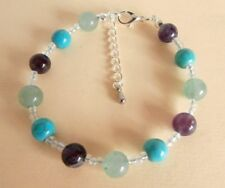 Gemstone Crystal Healing Weight Loss Motivation Support Bracelet Gift Bag