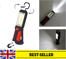 USB Rechargeable COB + LED Magnetic Torch Work Lamp Outdoor Car Repairing ToolUK