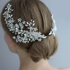 20 x 9cm Handmade Flower Wedding Bridal Head Pieces Hair Clip Accessories