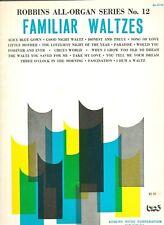 Familiar Waltzes Robbins All organ Series #12 sheet music 17 songs