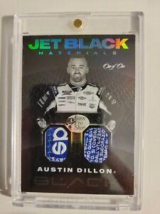 Austin Dillon 2021 Chronicles Racing JET BLACK Materials' Race-Worn Relic - 1/1