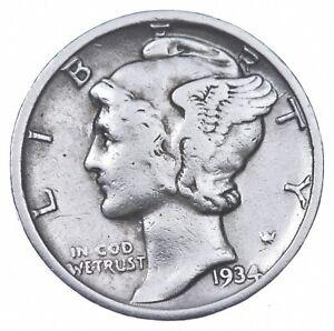 Razor Sharp 1934-D Mercury Liberty Dime 90% Silver Stunning in High Grade *800