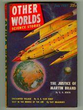 Vintage OTHER WORLDS Science Stories Magazine! Van Vogt! Bradbury! (July 1950)