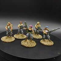Pro painted 28mm scale Modern Girl Militia unit (Copplestone Castings)