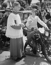 Francis-Barnett motorcycle English brand 1947 motorcycle blessing photograph