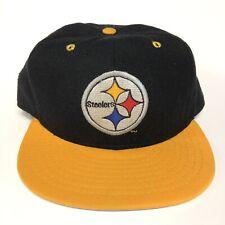 Pittsburgh Steelers Fitted Hat Cap 7 5/8 Black New Era NFL Football Vintage 90s