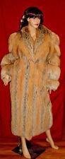 TALIDIS GENUINE FABULOUS FOX FUR FULL-LENGTH LONG COAT LARGE NATURAL COLORS