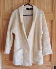 VTG P.G.E. Mohair Ivory Sweater Coat Cardigan