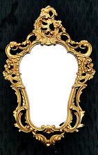 Exklusiver Wandspiegel Oval ANTIK BAROCK Garderobenspiegel in Gold 50X76 cm